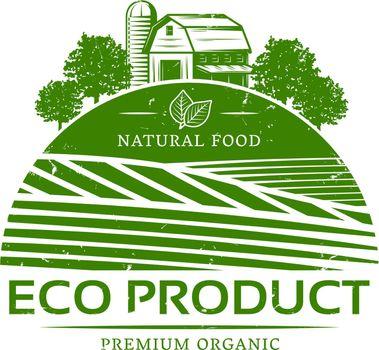 Vintage Natural Agricultural Green Label Template