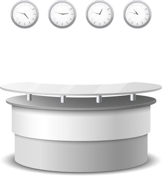 Vector realistic reception counter