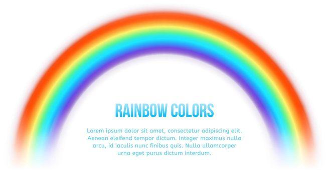 Vector rainbow on white background