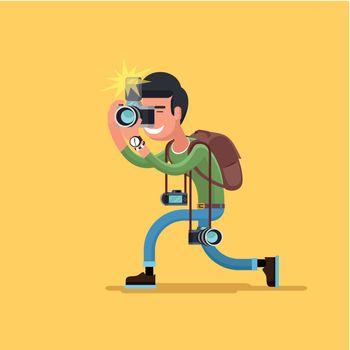 Vector photographer character