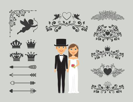 Wedding invitation design elements