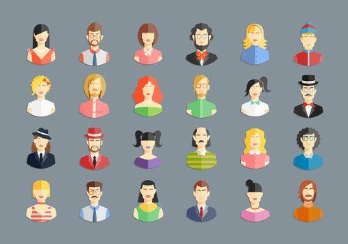 vector large set of avatars