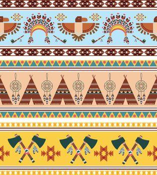 Vector Tribal Ethnic Vintage Background