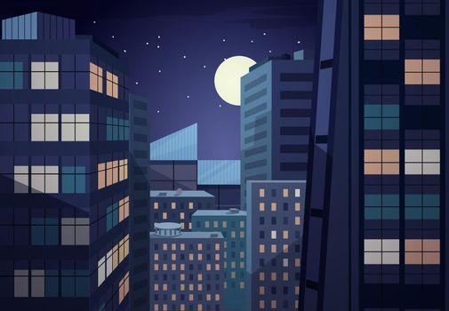 Vector night cityscape