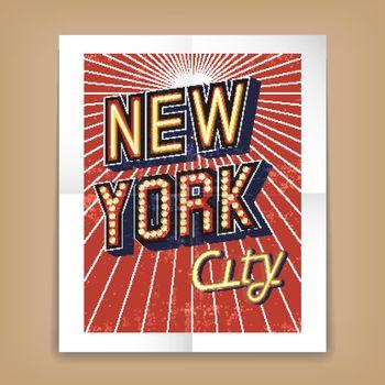 Vector New York City poster