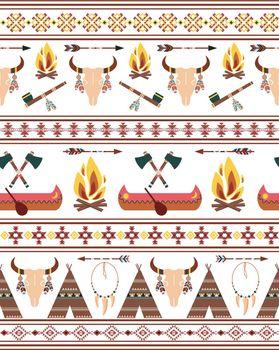 Seamless Tribal Native American Indian Borders