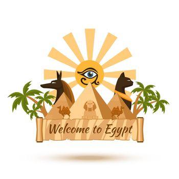 Egypt travel poster element