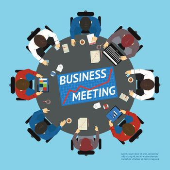 Business people at a negotiating table