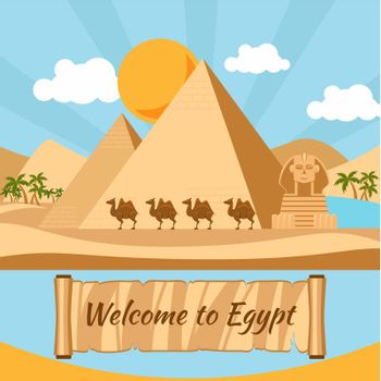 Welcome to Egypt, Pyramids and sphinx