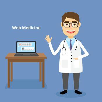 Web medicine concept