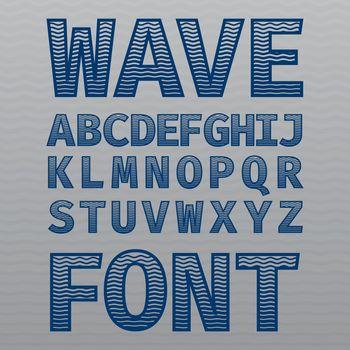Wave Vintage Font Poster