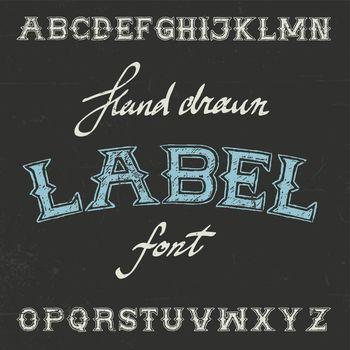 Vintage Label Font Poster