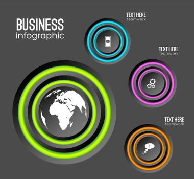 Web Infographic Business Concept