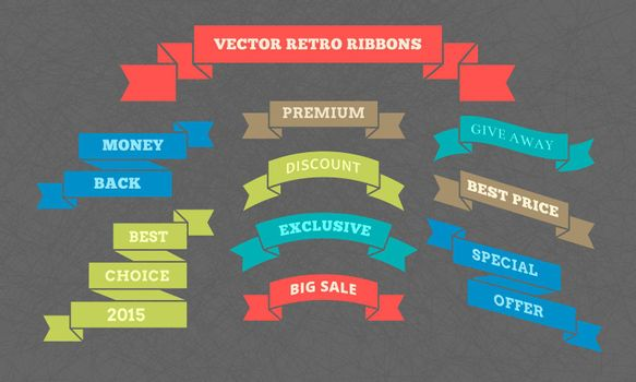 Vector retro ribbons