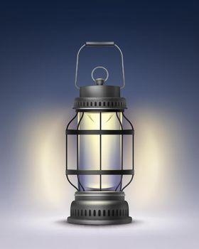 Vintage burning lantern