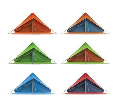Tourist tent set