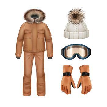 Winter apparel set