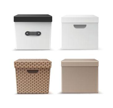 Set of storage boxes