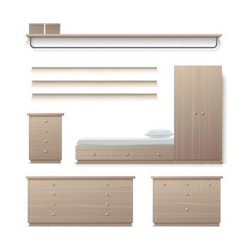 Set of wardrobe furniture