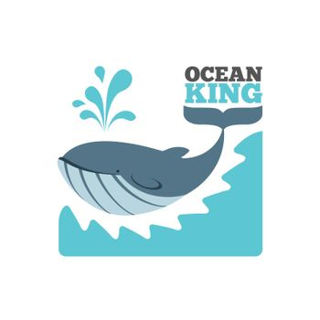 Vector whale logo or poster