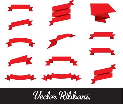 Vector Ribbons Set Collection