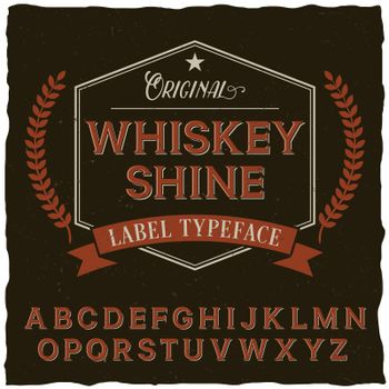 Whiskey Shine Font Poster