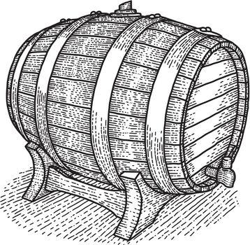 Vintage Wooden Barrel Poster