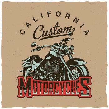 California Custom Motorcycles Poster