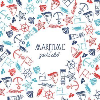 Hand Drawn Marine Background