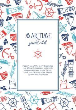 Vintage Nautical Light Poster
