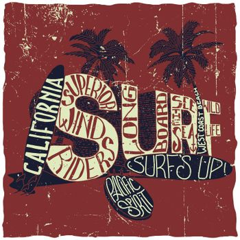 California Surfing Poster