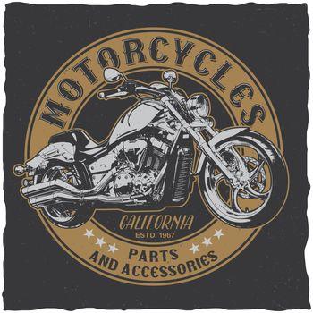 California Motorcycles Parts Poster