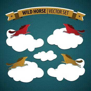 Wild Horse Icon Set