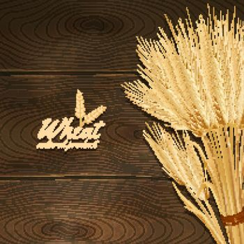 Wheat On Wooden Table