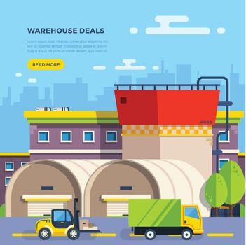 Warehouse Flat Illustration