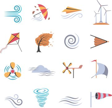 Wind Color Flat Icons
