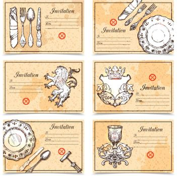 Vintage Menu Set With Cutlery Images