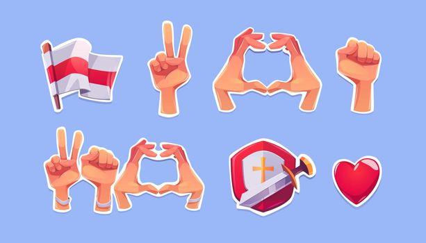 Belarus opposition symbols on stickers