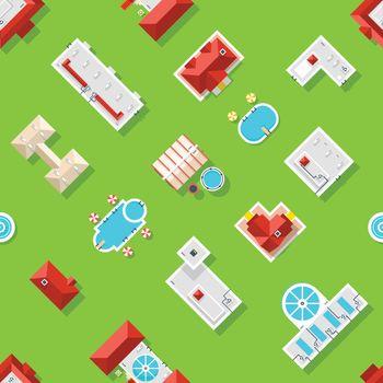 City Element Seamless Pattern