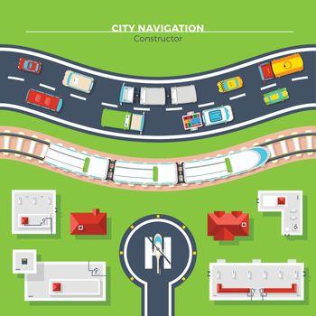 City Navigation Top View