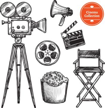 Cinema Hand Drawn Set
