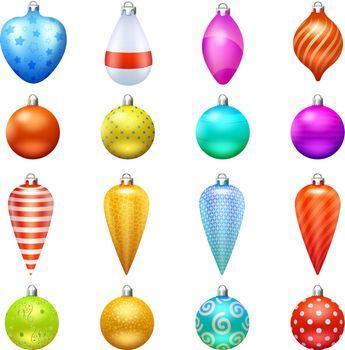 Christmas Toys Icons Set
