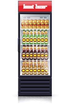 Beer Fridge Dispenser Realistic Illustration Icon
