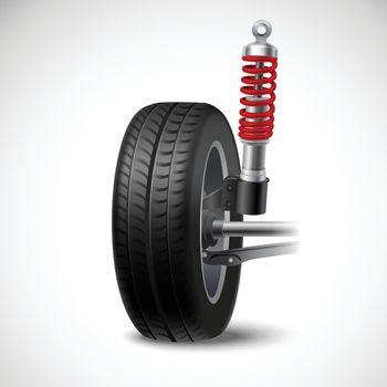 Car Suspension Illustration