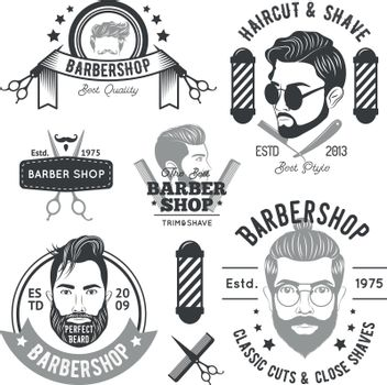 Barbershop Monochrome Emblems