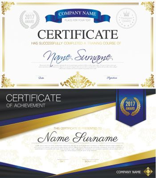 Classic Elegant Certificates Collection