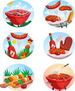 BBQ Grill Stickies Set