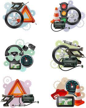 Car Maintenance Sign Set
