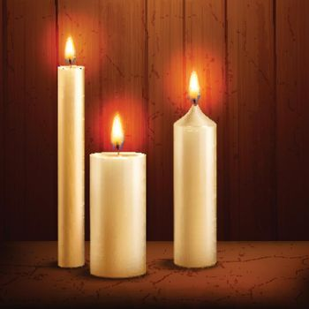Candles realistic background