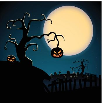 Cartoon Scary Happy Halloween Template